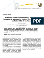 corporate governance practices in banking and insurance a comparative study of companies listed on tadawul stock exchange