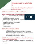 29    LAS  NIAS  NORMAS INTERNACIONALES DE AUDITORÍA APLICABLES SON