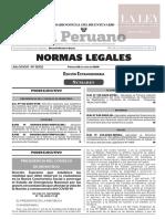 Decreto Supremo N°  116-2020-PCM