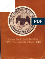 University of Iowa Student, Faculty, and Staff Directory  1983-1984