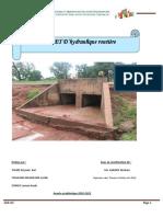 projet d'hydraulique routiere cas du dalot