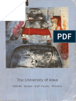 University of Iowa Student, Faculty, and Staff Directory  1988-1989