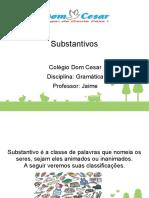 Gramática - Aula on-line 3 - Classificação Dos Substantivos