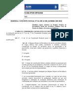 EMENDA CONSTITUCIONAL Nº 26, DE 31 DE JANEIRO DE 2020