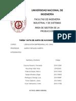 Acta de Junta de Accionistas