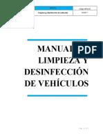 BPM-M3 limpieza y desinfeccion de vehiculos