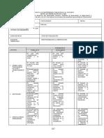 Evaluación del desempeño docente - Matriz de observación de clase