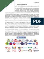 ORGANIZACIONES SOCIALES Y PARTIDOS AÚN ESPERAN RESPUESTA DEL MINISTRO  PARÍS