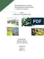 Nutracéuticos de microalgas