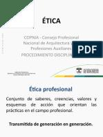 Clase COPNIA - Procedimiento disciplinario