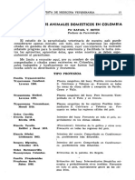 REVISTA  DE  MEDICINA  VETERINARIA PARASITOS DE LOS ANIMALES DOMESTICOS EN COLOMBIAPor  RAFAEL  V.  REYES Profesor de Parasitología.