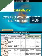 SEMANA XIV COSTEO POR ORDENES