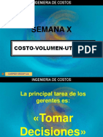 SEMANA X costo volumen utilidad