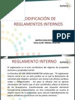 Modificación de reglamento interno