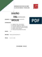 DISEÑO DEL MOLDE