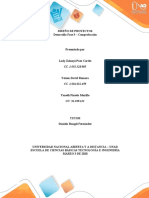 Desarrollo fase 3 DISEÑO DE PROYECTOS