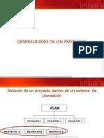 GENERALIDADES DE LOS PROYECTOS (2020-I)