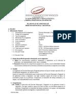 Derecho Municipal y Regional SILABO 2020