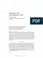 justification and last judgment in paul, karl paul donfried