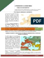 TRANSICIÓN A LA EDAD MEDIA EN EUROPA