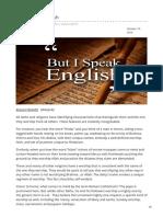 -But I Speak English