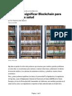 Qué podría significar Blockchain para sus datos de salud
