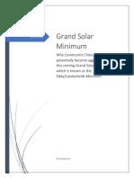 Grand Solar Minimum Updated