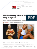 IFBB Pro Beverly DiRenzo Passes Away At Age 49 – Fitness Volt