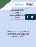 ATENCION DE ENFEMERIA AL  NIÑO CON MALNUTRICION