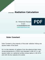 SolarRadiationCalculations