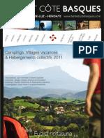 Guide des Campings 2011 en Terre et Côte Basques