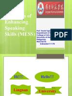 Methods of Enhancing Speaking  Skills