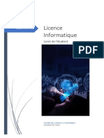 livret étudiant Licence Informatique