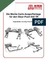 Die Monte-Carlo-Auspuffanlage für den Steyr-Puch 650 TR. Originalbilder vom Steyr-Puch-Werk