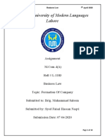 S.Faisal B.Law Assignment