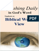 "Emphasis on ""Biblical World View""                     July 2020"