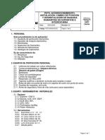 PETS-MVM-GO-02  Acondicionamiento, Instalaciòn, Cambio de Posiciòn y Desistalaciòn de Maquina Diamantina en Superficie e Intarior Mina(Explorer, LY 38, U4)