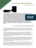 """""""Covid-19 – Um Caso Para Detetives Médicos"""", de Dr. Wolfgang Wodarg"""