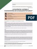 2015 - Evaluacion universitaria ventajas e inconvenientes.