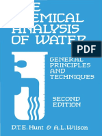 D  T  E Hunt_ A Wilson - Chemical Analysis Of Water _ General Principles and Techniques-Royal Society of Chemistry (1986).pdf