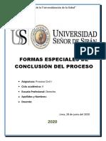 Formas Especiales de Conclusion de Proceso