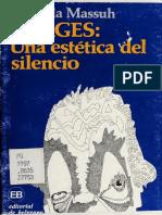 MASSUH Gabriela - Borges una estetica del silencio