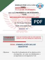 FORMULACIÓN DEL OBJETIVO DE INVESTIGACIÓN
