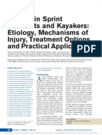 Injuries in Sprint Canoeists and Kayakers Etiology, Mechanisms of Injury, Treatment Options, and Practical Applications