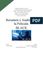 Resumen y Analisis de La Pelicula BLACK
