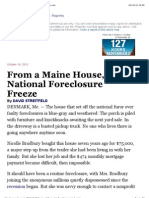 Out of Maine, A National Foreclosure Freeze - NYTimes