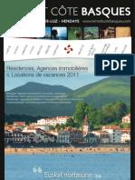 Guide des Residences de Tourisme 2011 en Terre et Côte Basques