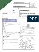 Trabajo virtual Inglés Tercero. Marzo 18