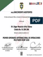 Certificado operaciones sv. ortiz
