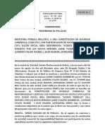 2.- MINUTA DE CONSTITUCION